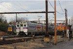 CSX GP40-2 #6244, SPAX Silverliner IV #388, BNSF C44-9W #4352