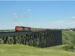 CN on CP's Lethbridge Viaduct