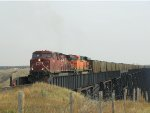 CP/BNSF Double Header on CP's Lethbridge Viaduct