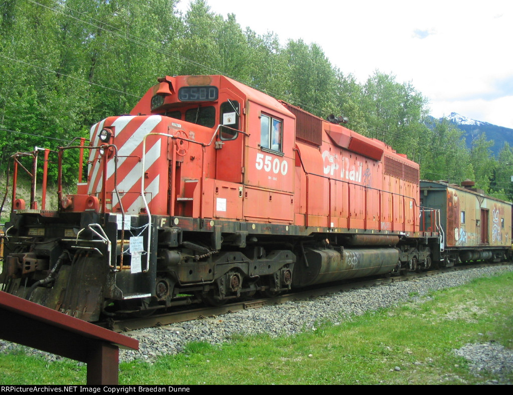CP 5500 at the Revelstoke Railway Museum