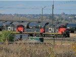 CN Slug and GP9RMs at Clover Bar Yard