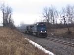 Westbound stack train w/ex-Conrail SD70