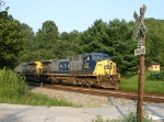CSX T527-22 runs on trackage rights over the K&O to reach the Kingston Fossil Plant.