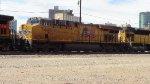 UP 7444 Trailing behind BNSF 5660