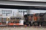 BNSF 5188 Meets UP 4607
