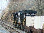 Three mighty NS diesels roaring upgrade, just west of the E-town station