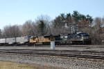 NS 9784 takes more trailers east.