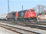 CN 9515 & 8004 w/ 10,000ft Train Under Heavy Load @ Homewood, IL