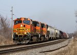 Eastbound BNSF Manifest with 3 H2's