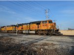 BNSF 9902 Leads a UP Unit