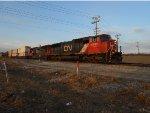 CN 5747 Leads Q train @ Bourbonnais.