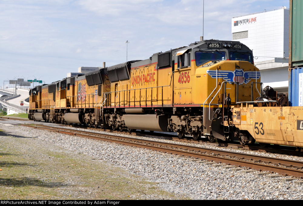 UP 4856 Going Away of NS 210