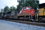 CN 8951 with marker lights on