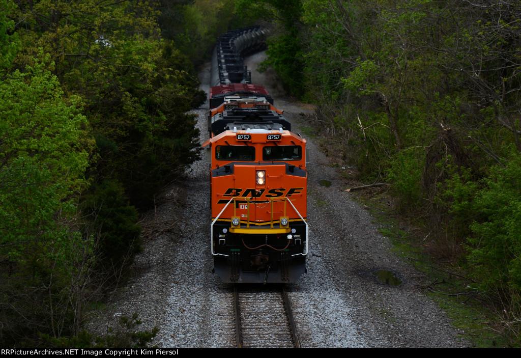 BNSF 8757 CSX Train K041 Crude Oil Empties