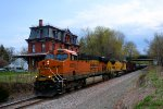BNSF 6376 UP 9411 CSX Train K041 Crude Oil Empties
