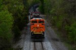 BNSF 8757 CSX Train K041 Crude Oil Empties