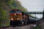 BNSF 4515 UP 5737 CSX Train K044 Crude Oil Loads