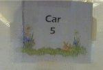 Car 5 (6591) sign