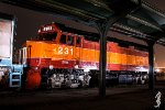 F40PHR 231 at night in Ogden