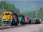 BNSF 6817, 8050, 6818, and 8058
