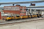 UP 8532 Swings past the Ex Standard Seed Co.