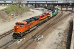 BNSF 9237 leads a Awesome powered coal train.