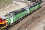 3 SD60m's trail on a loaded coal train...