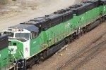 BNSF 8152 2nd of 3 on a coal train.