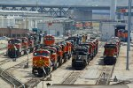 BNSF 5423 and other's sit in the Pit at Argentine yard..