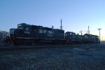 NS GP38-2s 5312 and 5281 sandwich SW1001 2104 in Morrisville Yard