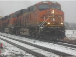 Snowy Day On The BNSF Red Rock Sub