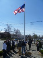 Flag raising and dedication ceremony