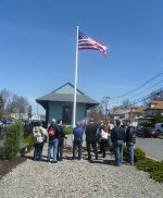 Flag raising and dedication ceremony at NYSW Hawthorne Station