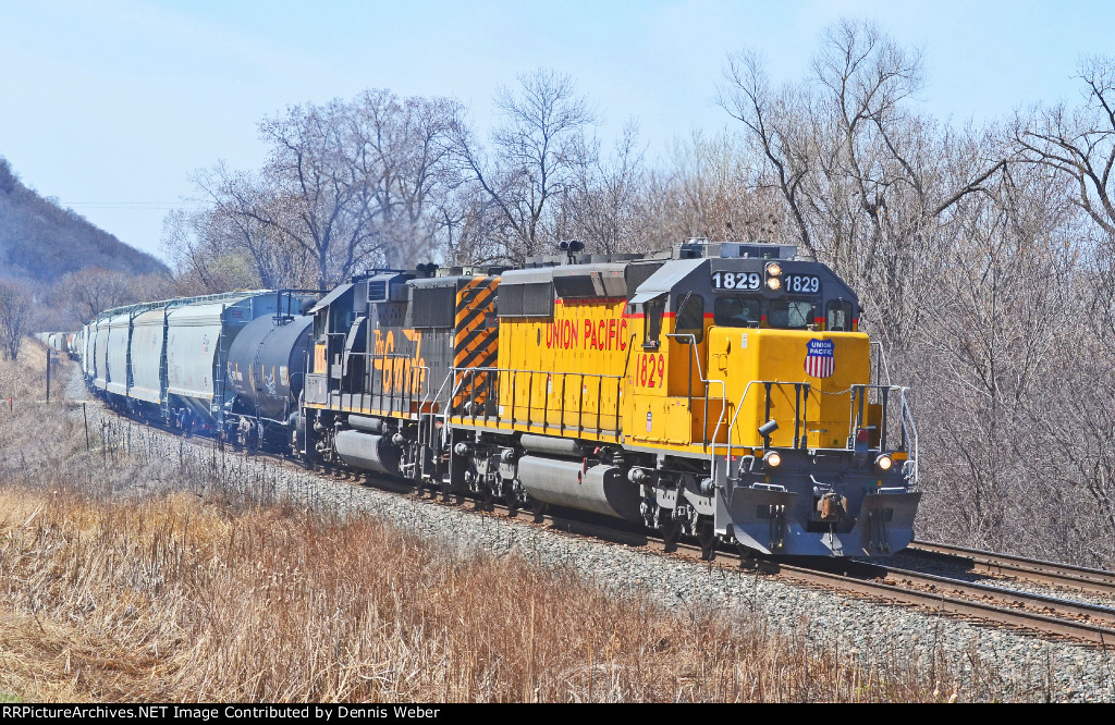 UP 1829,  CP's   River   Sub.