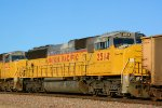 UP 2514 SD60M ex 6359 - Old Number Clearly Visible Under New