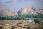 BNSF 7147 with Doublestack Through Mojave Narrows