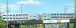 Raritan Valley train 5742 crossing U.S. Route 202