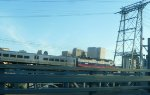 Metro-North GP40FH-2 4904 crossing Newark Draw and skyline