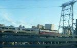 Metro-North GP40FH-2 4904 crossing Newark Draw and skyline