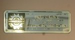 Builder plate of NJ Transit Comet IV cab car 5011