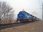NS (Conrail) #8098 lead as NS 12G southbound train in Valentine day