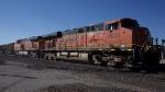 BNSF 5933 leading EB loaded unit coal train