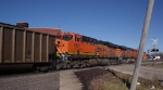 BNSF 5897 2nd unit in EB loaded unit coal train