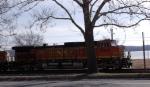 BNSF 4560 leading WB stack train