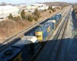 CSX 779 and CSX 2573 leading empty NB unit coal train