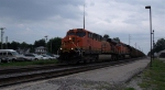 BNSF 5831 leading EB coal train