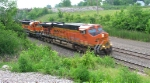 BNSF 8048, as 2nd unit in WB unit coil train in early morning,