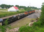 BNSF 8048 and sisters WB,