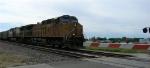 UP 6503 leading EB loaded unit coal train