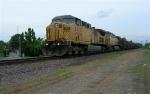 UP 6818 leading unit coal train SB